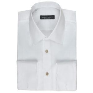 Camicia bianca in cotone popeline extra-fine 140/2