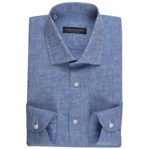 Camicia blu cielo 100% Lino
