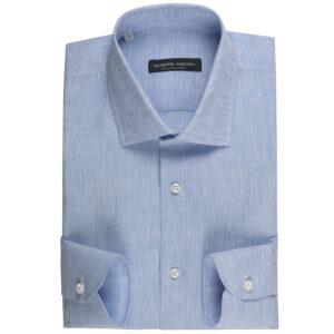 Camicia celeste 100% Lino