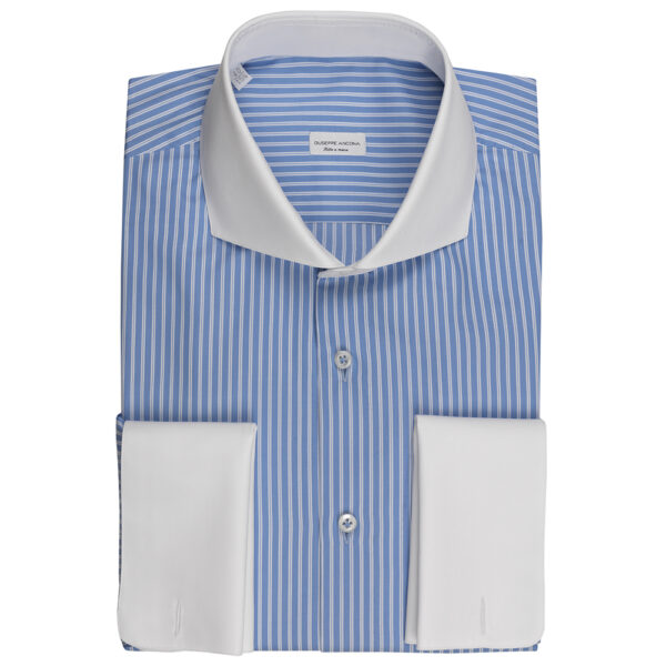 Camicia su misura gessata | Giuseppe Ancona