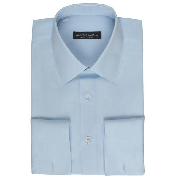 Camicia su misura celeste Giuseppe Ancona