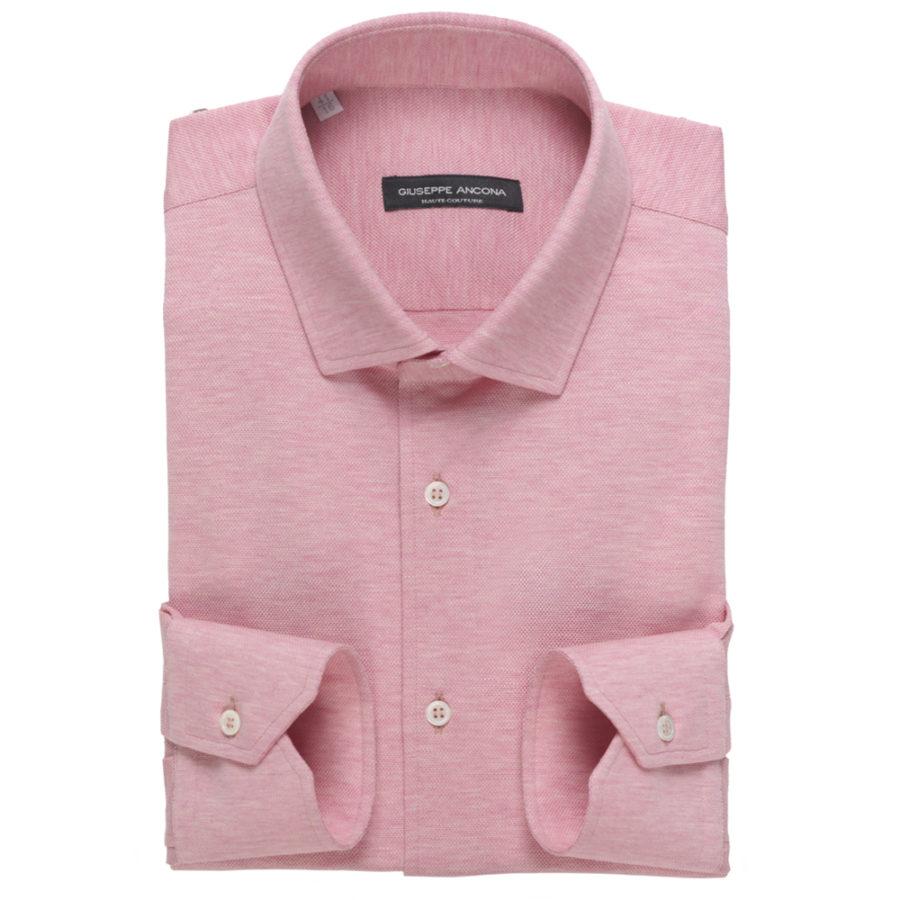 70991684ce Camicia Polo Rosa in cotone jersey a nido d'ape