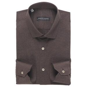 Camicia Polo Marrone in cotone jersey