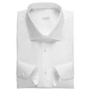 Camicia bianca in cotone popeline extrafine 300/3