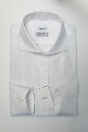 camicia bianca albini collo extra cut
